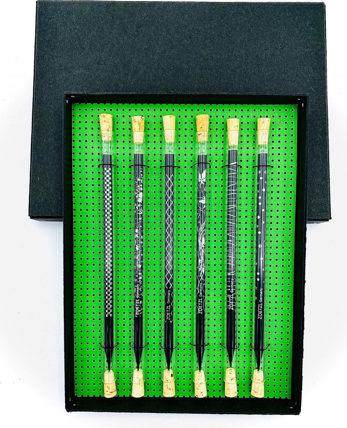GS106  -  Trinkhalm & Pencil, Black & Silver