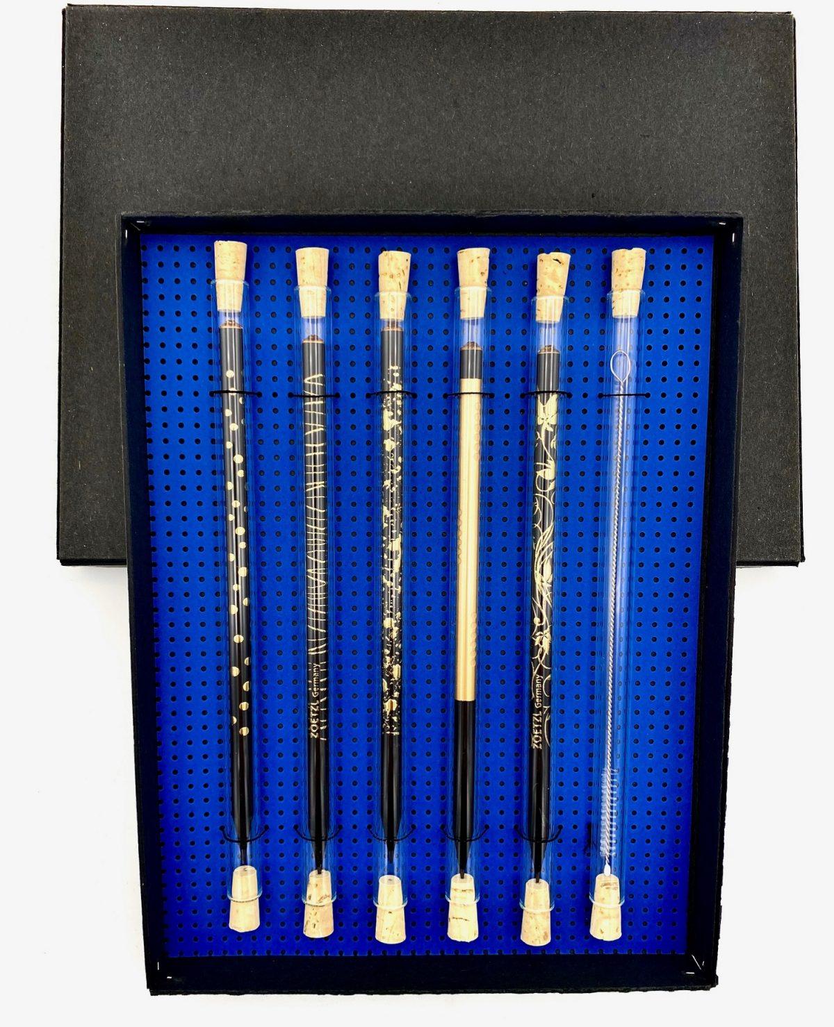 GS107-P  -  Set Trinkhalm & Pencil & Cleaner, Black & Gold