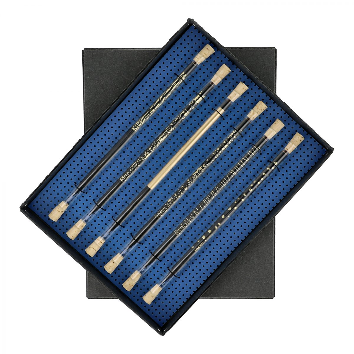 GS107  -  Trinkhalm & Pencil, Black & Gold