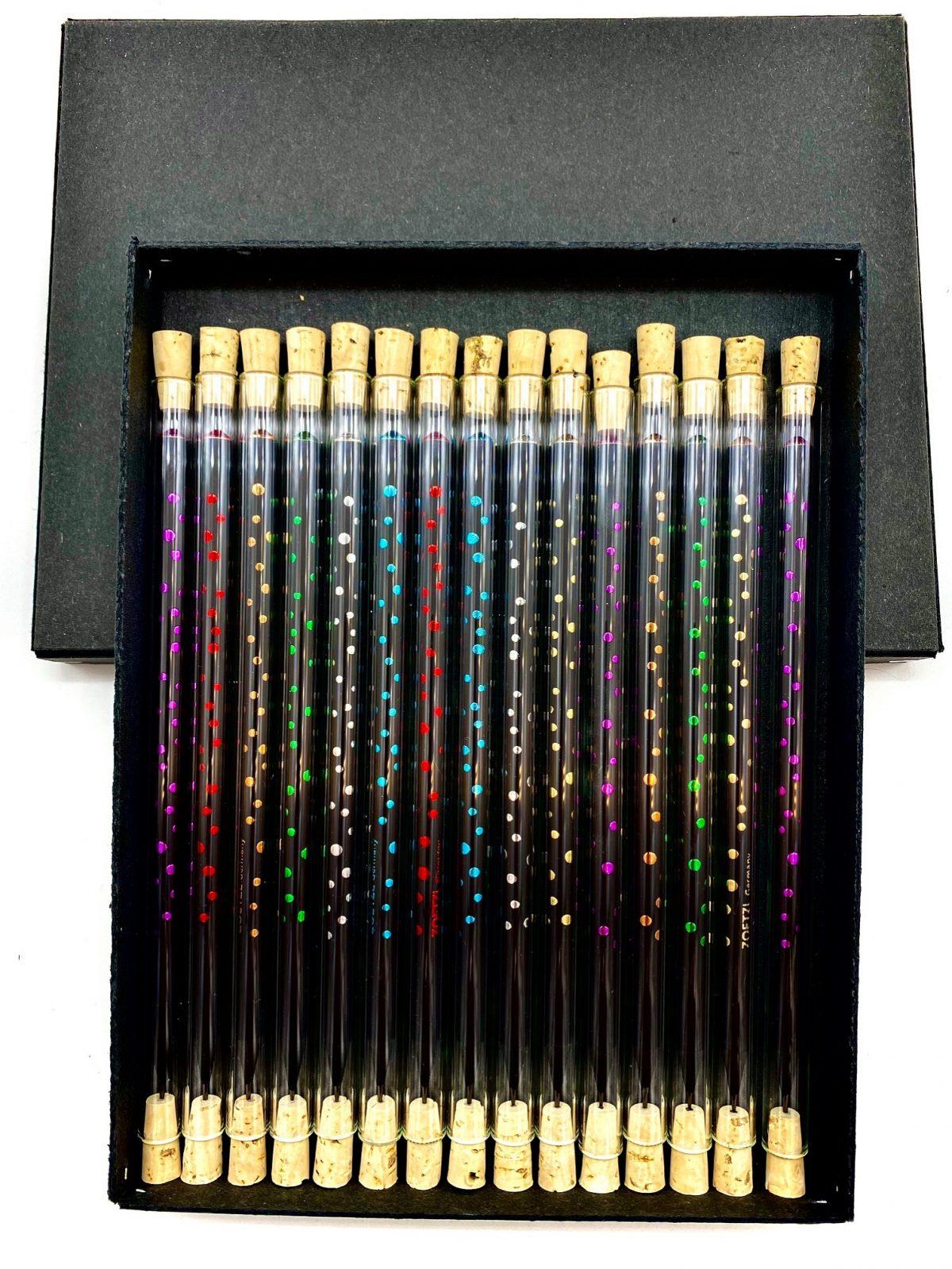 TD101  -  GlasTrinkhalme mit Pencil