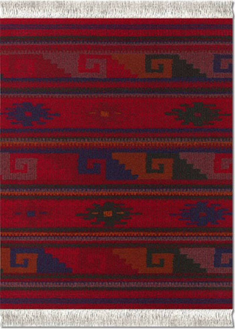 Deep Red Zapotec-Inspired